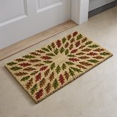 Crate & Barrel Scattered Leaves Door Mat
