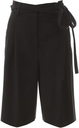 Valentino Bermuda Tie-Waist Shorts