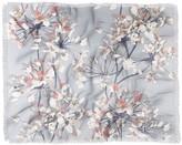 Deny Designs Emanuela Carratoni Delicate Floral Pattern Woven Throw Blanket