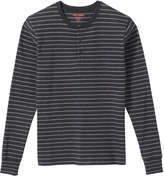 Joe Fresh Men's Stripe Rugby Tee, Dark Charcoal (Size S)