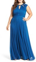 Adrianna Papell Pleated Gown (Plus Size)