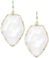 Kendra Scott Corley Drop Earrings in White Pearl