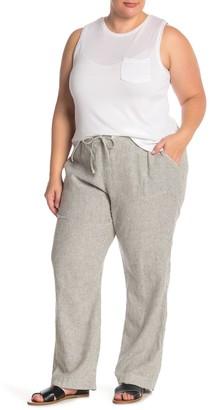Caslon Yarn Dye Linen Blend Pants (Plus Size)