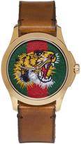 Gucci Gold Medium G-timeless Tiger Watch