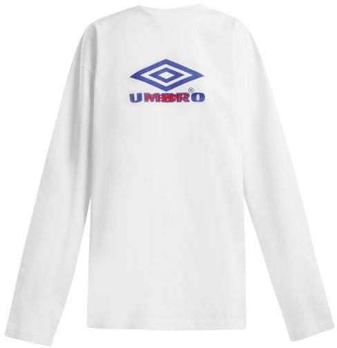 Vetements X Umbro Long Sleeved Cotton T Shirt - Womens - White