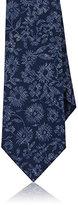 Isaia Men's Floral Wool Necktie-NAVY