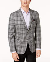Tallia Men's Big & Tall Slim-Fit Black/White Plaid Soft Sport Coat