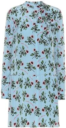 Valentino Floral silk-crApe dress