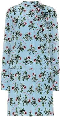 Valentino floral silk-crepe dress