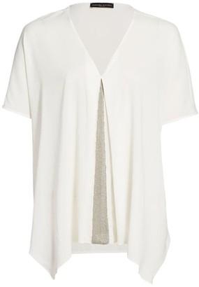 Fabiana Filippi Brilliant Inset Short Sleeve Tunic