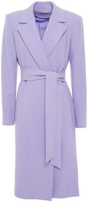 Alice + Olivia Belted Wool-crepe Coat