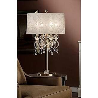 "o.r.e International Inc. K-5155T 32.5"" Aurora BAROCCO Shade Crystal Gold Table LAMP"