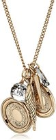 """Betsey Johnson Throwback"""" Mixed Multi-Charm Pendant Necklace, 16"""" + 3"""" extender"""