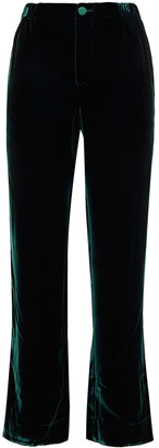 F.R.S For Restless Sleepers Etere Velvet Straight-leg Pants