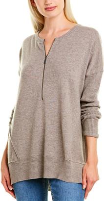 Forte Cashmere Zip Neck Cashmere Henley Shirt