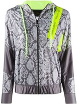 Philipp Plein hooded python print jacket