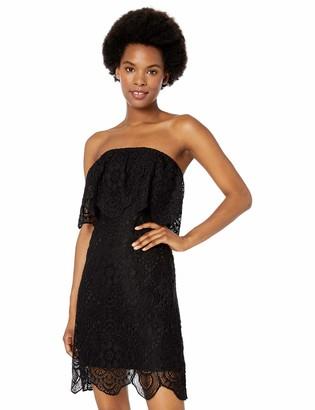 BB Dakota Junior's Strapless lace Dress with Knit Lining