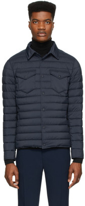 Herno Navy Nylon Matte Jacket
