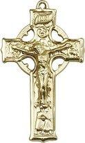 Blissliving Home Celtic Crucifix 14Kt Large Medal