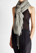 Rick Owens Cotton Scarf with Silk