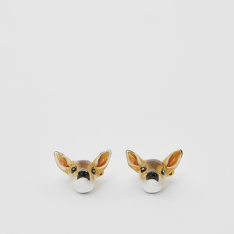 Burberry Deer Motif Gold-plated Cufflinks