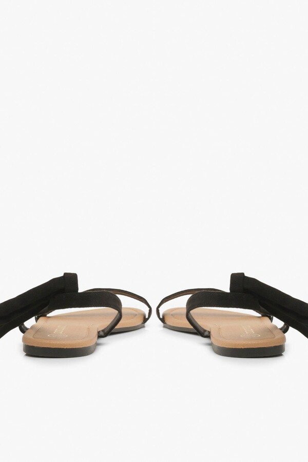 Thumbnail for your product : boohoo Basic Wrap Sandals