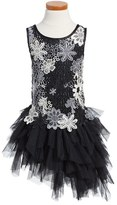 Biscotti Girl's Modern Princess Floral Lace & Tulle Dress