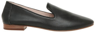 Basque Bonnie Black Leather Flat Shoe