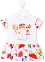 MonnaLisa ruffle trim T-shirt