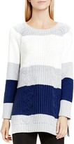 Two by VINCE CAMUTO Color Block Mixed Knit Sweater