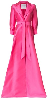 Carolina Herrera Tied Waist-Silk Dress