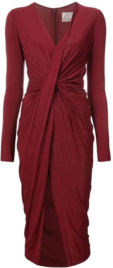 Jason Wu Collection ruched detail slit dress