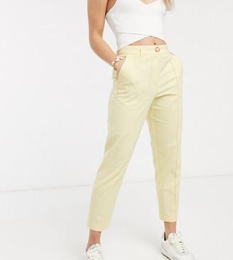 Asos DESIGN Petite ultimate linen cigarette pants