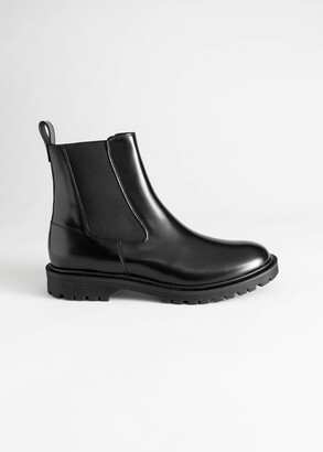 And other stories Glossy Leather Chelsea Boots