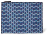 Maje Printed Faux Textured-Leather Clutch
