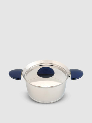 "Berghoff Stacca 6.25"" Stainless Steel Covered Casserole, Blue"