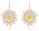 Alison Lou Diamond, enamel & yellow-gold Daisy earrings