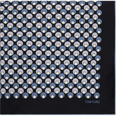 Tom Ford Silk Circle Pocket Square