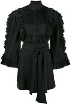 Ellery ruffle-trimmed blouse - women - Silk/Spandex/Elastane - 6