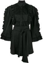 Ellery ruffle-trimmed blouse - women - Silk/Spandex/Elastane - 8
