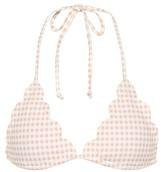 Marysia Swim Broadway gingham bikini top