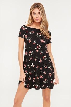 Ardene Basic Off Shoulder Floral Dress
