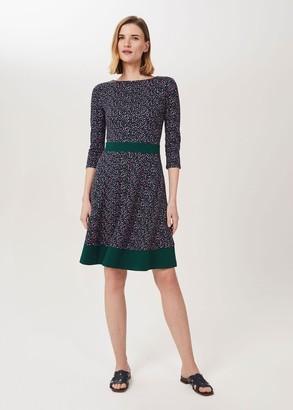 Hobbs Seasalter Ponte Printed Dress