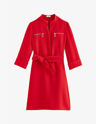Claudie Pierlot Zip-detail crepe mini dress