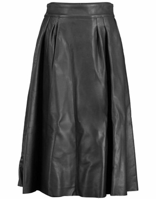 Dolce & Gabbana Pleated Leather Skirt