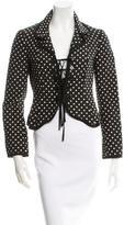 Moschino Silk-Blend Patterned Jacket