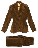 Dolce & Gabbana Corduroy Rib Knit Pantsuit