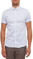 Ted Baker Timshr Hexagon Print Regular Fit Button Down Shirt