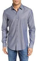 BOSS Men's Robbie Sharp Fit Micro Print Sport Shirt