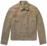 Richard James Suede Jacket - Army green